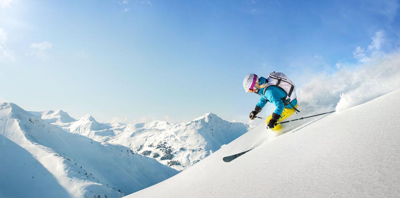 Sonnalp Skifahrer